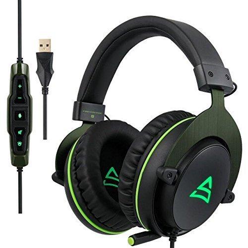 gaming headset pc supsoo g817 usb gaming kopfh rer mit. Black Bedroom Furniture Sets. Home Design Ideas