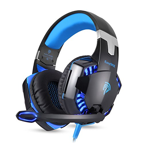 headset gaming pc easysmx g2000 stereo gaming headset f r. Black Bedroom Furniture Sets. Home Design Ideas